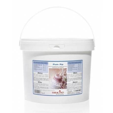 TOP SARACINO 5 KG white sugar paste