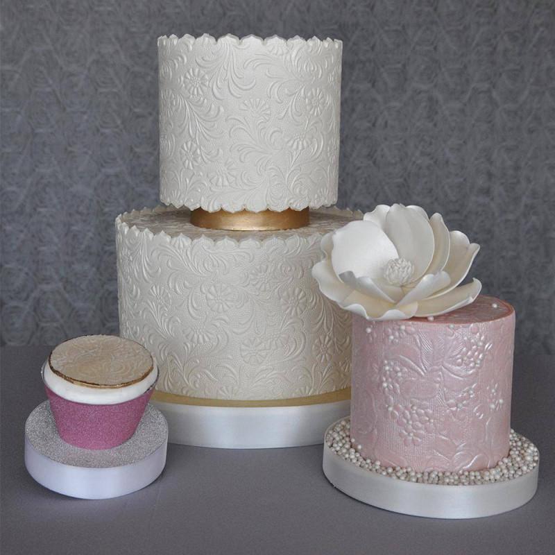 3 Mats Floral Texture