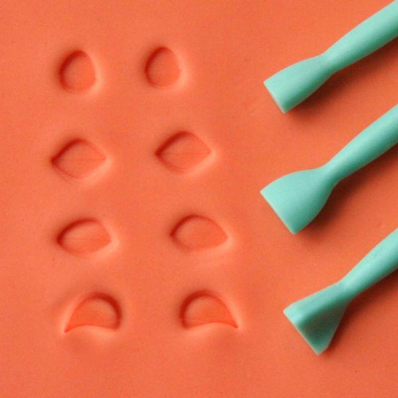 Set de 3 herramientas para ojos medianos