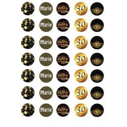 Impresión personalizada merengues ADULT Aniversario