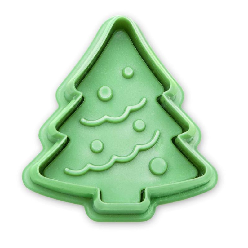 Cortadores con expulsor Árbol de Navidad 4,5 cm