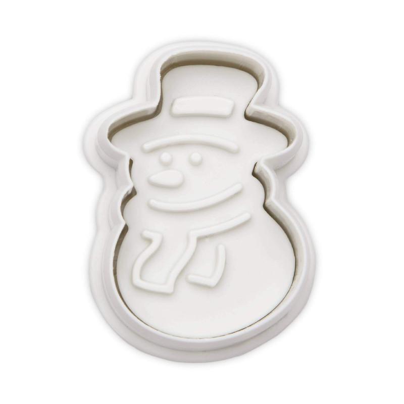 Emporte pièce à piston Bonhomme de neige 4,5 cm