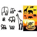 Juego de cortador de animales Silhouette Safari