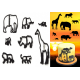 Silhouette Safari Animal Cutter Set