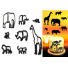 Animal Safari Silhouette cutter set