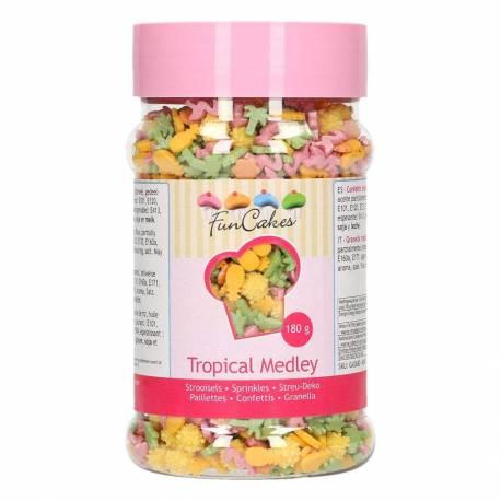 Confettis en sucre Medley Tropical 180G