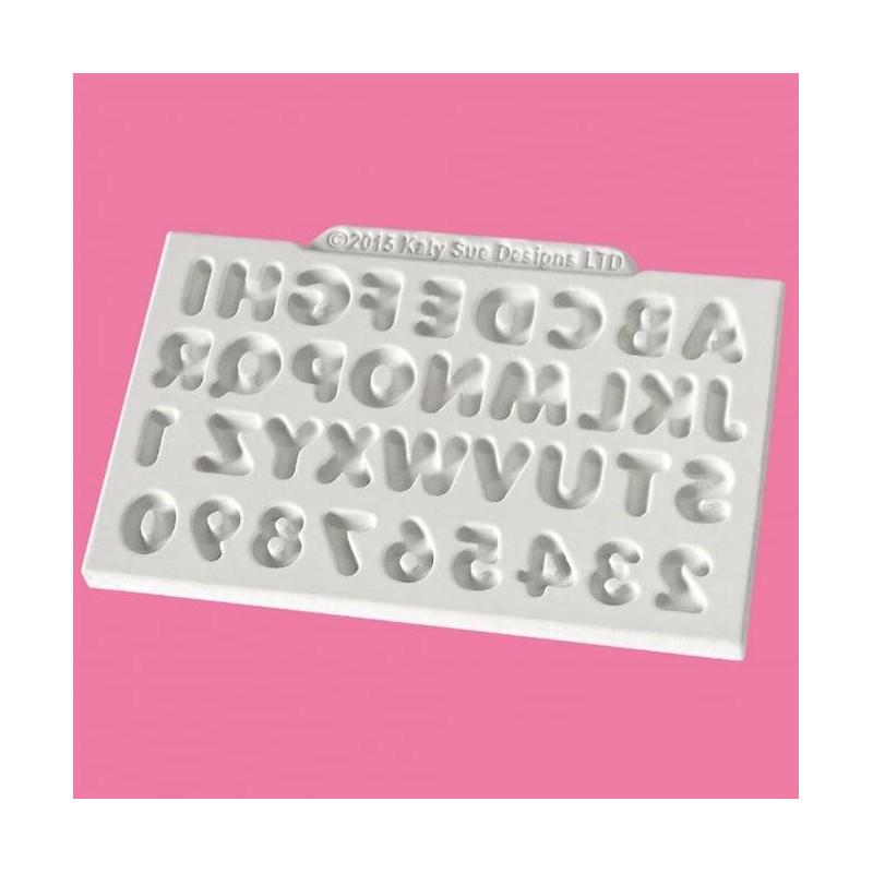 Moule Alphabet et chiffres Katy Sue