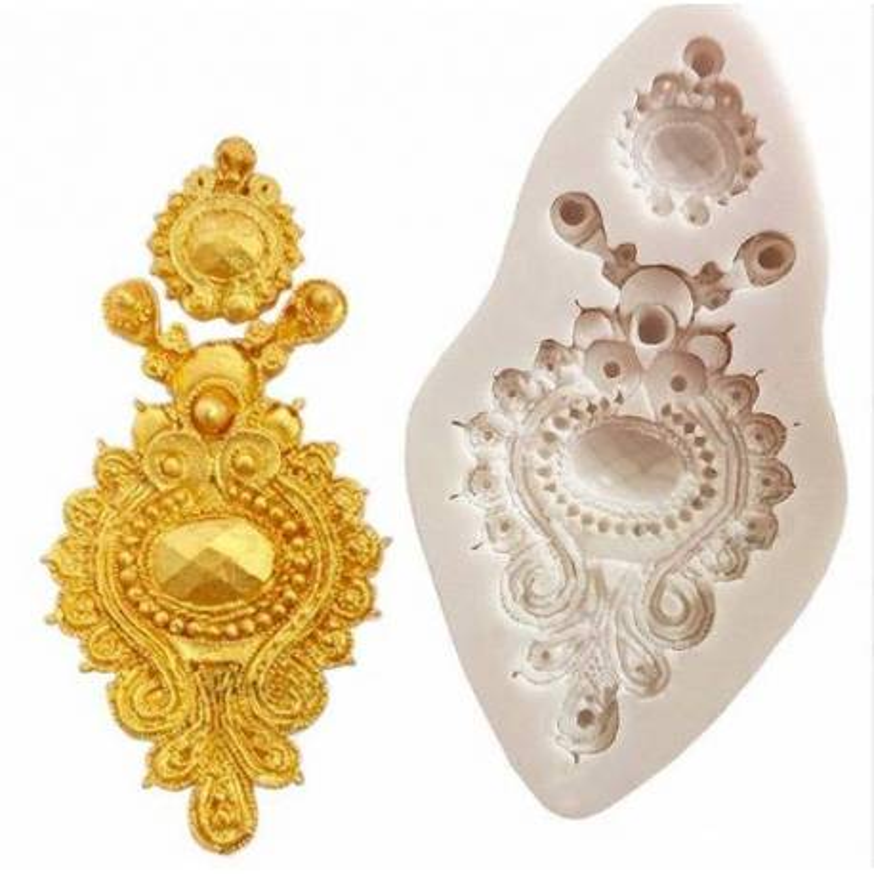 Broche de joyería de molde de silicona
