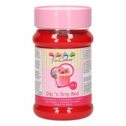 Fondant icing red Dip for ' Drip Fun Cakes 375 G n