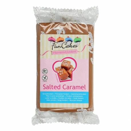 FUNCAKES MARRON Flavoured Sugar Paste Salted Caramel 250 g