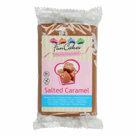 Pâte à Sucre FUNCAKES MARRON aromatisé Caramel Salé 250 g