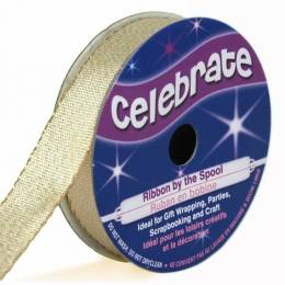 Ribbon fabric Gold 5 m long and 13mm width