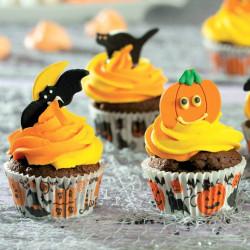 75 Caissettes à Cupcakes Citrouilles Halloween