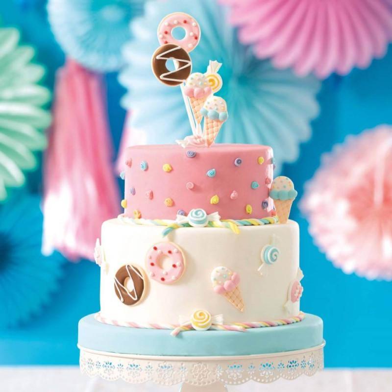 6 Sugar decorations Delicacies