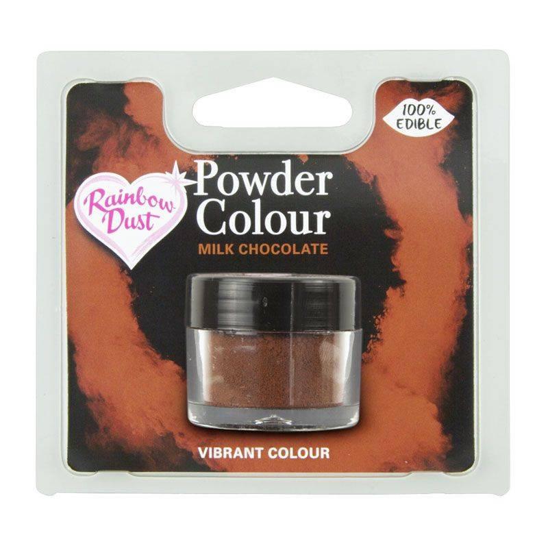 Colorant en poudre marron chocolat au lait Rainbow Dust