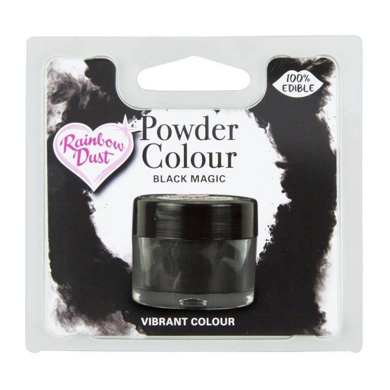 Negro MAT Polvo Rainbow Dust en polvo Agente colorante