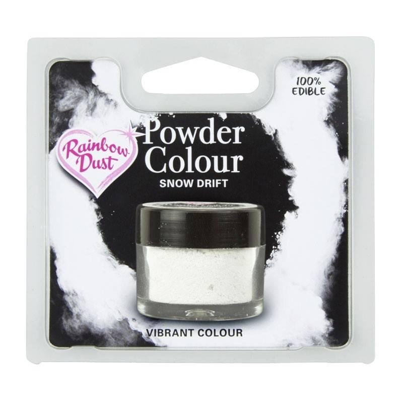 Powder WHITE MAT snowdrift colour Rainbow Dust