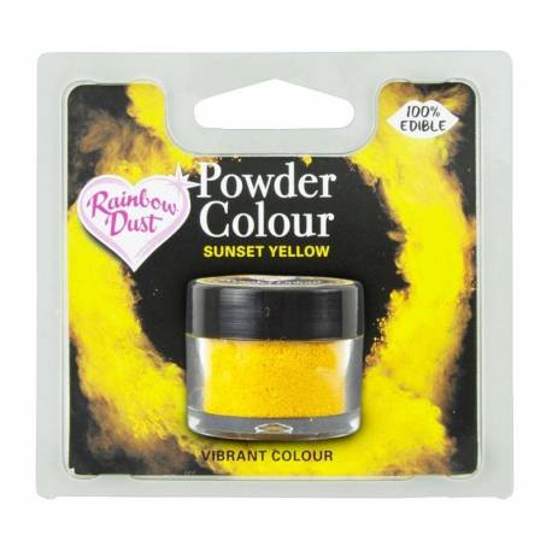 Powder SUNSET YELLOW colour Rainbow Dust