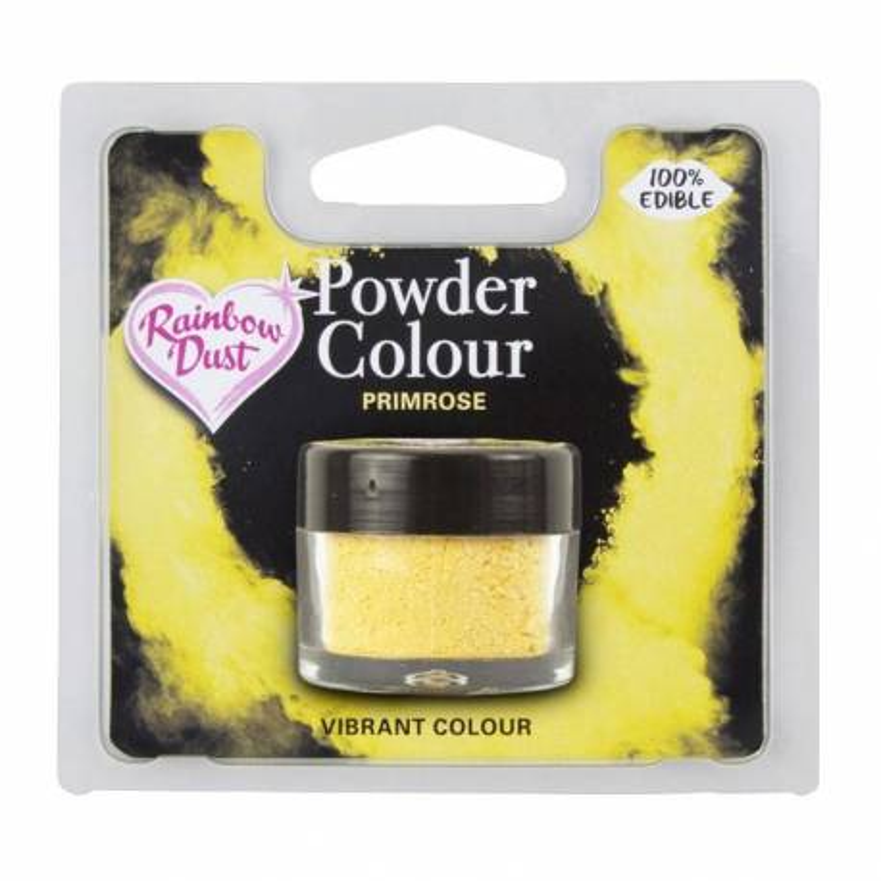 Powder YELLOW PRIMROSE colour Rainbow Dust