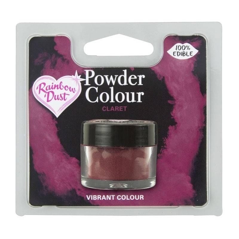 Powder BURGUNDY CLARET colour Rainbow Dust