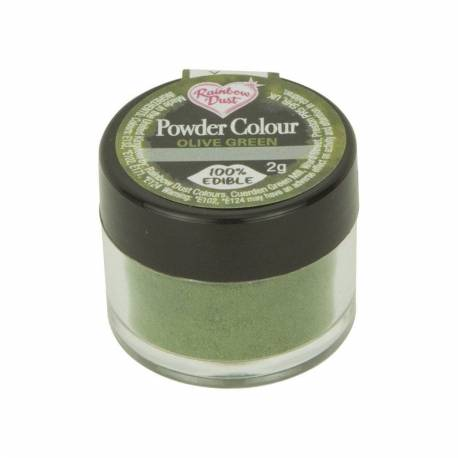 Olive Green Rainbow Dust Green Powder Colouring Agent