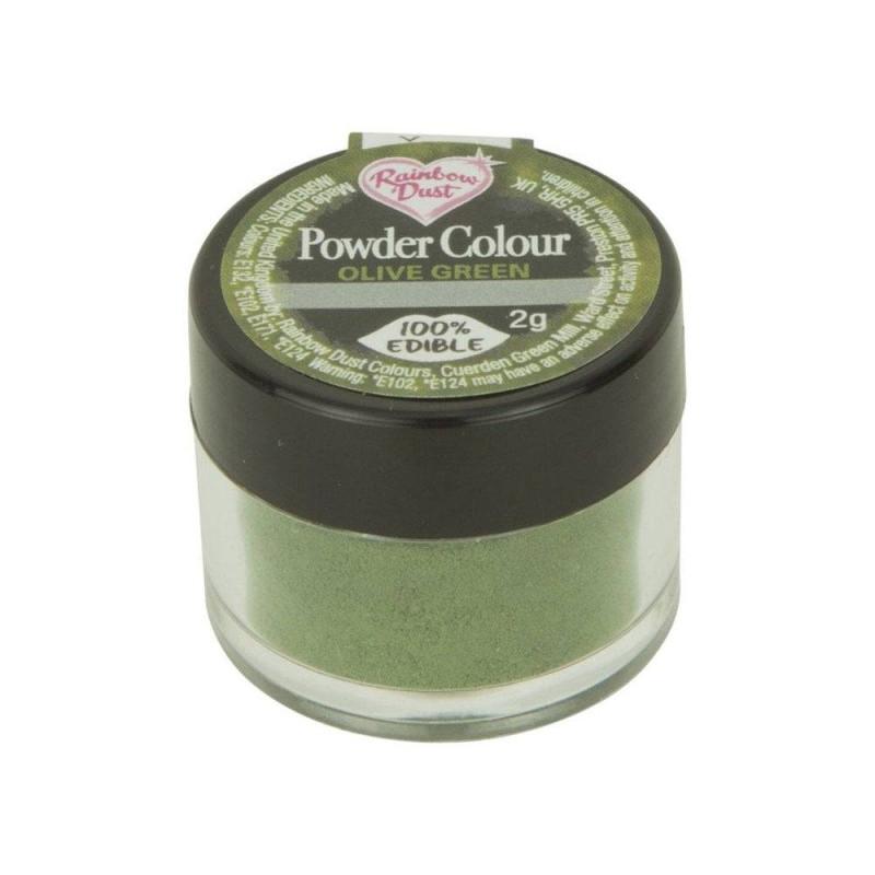 Polvo Verde Rainbow Dust Polvo Verde Oliva Agente colorante