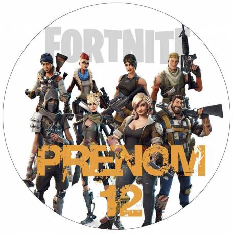 Impression alimentaire personnalisé jeu video FORTNITE