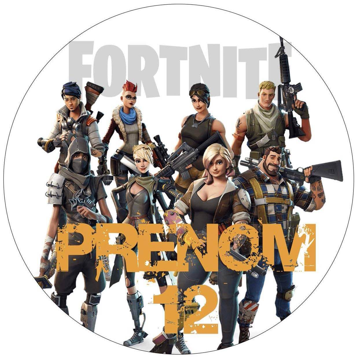 Impression Alimentaire Personnalise Jeu Video Fortnite Planete