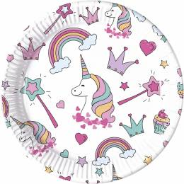 8 dishes Unicorn PARTY 23 cm