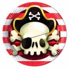 8 Assiettes PIRATE 23 cm