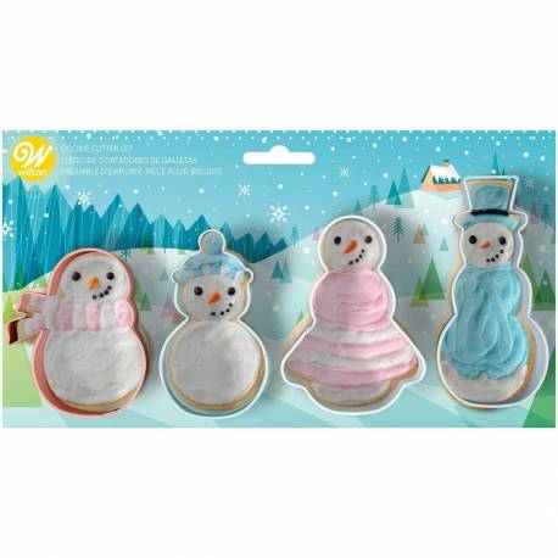 Set de 4 emporte pièces Bonhommes de neige Wilton
