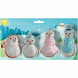 Set de 4 muñecos de nieve Wilton Snowman Parts Carrier Set