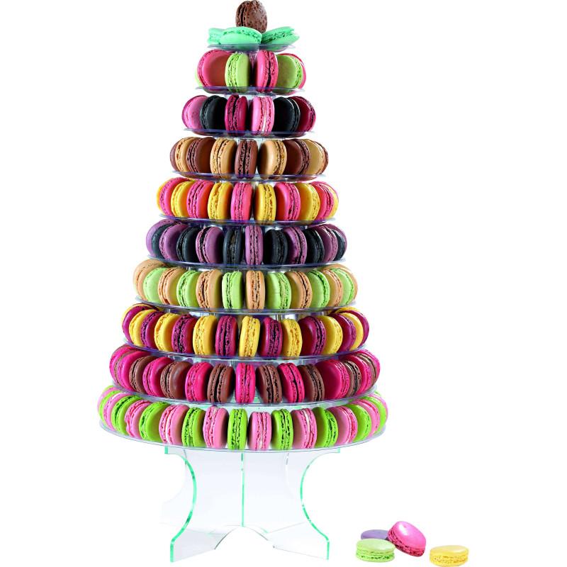 Pyramide à Macarons en PVC 46 cm
