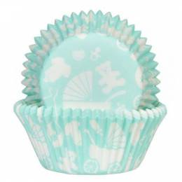50 x cups cupcake baby blue