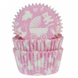 50 x boxes of Cupcakes Baby Rose