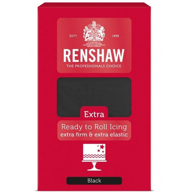 Renshaw EXTRA BLACK Sugar Paste 1 kg