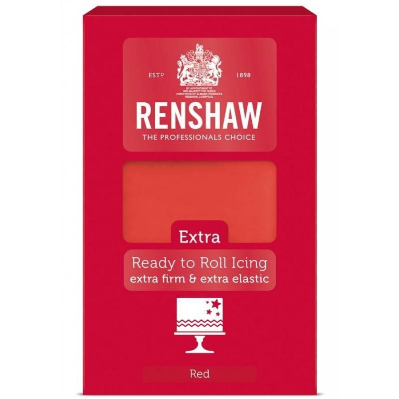 Renshaw EXTRA RED Sugar Paste 1 kg