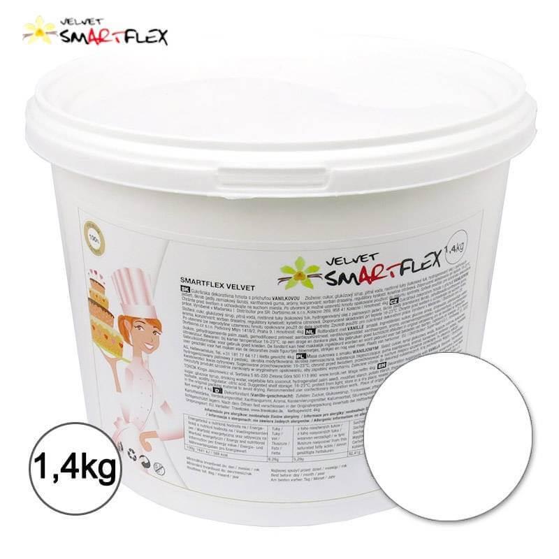 Pâte à Sucre SMARTFLEX Vanille BLANC 1,4 kg