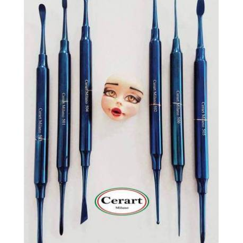 6 Outils métale de modelage BLUE DIAMONDS de CERART