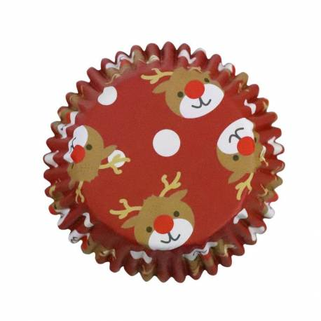 30 Cupcakes Boxes Christmas Reindeer PME