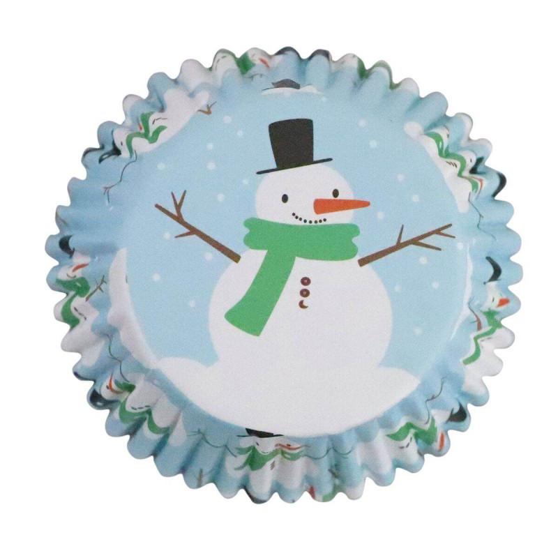 30 Cápsulas de Pastelitos Muñeco de Nieve PME
