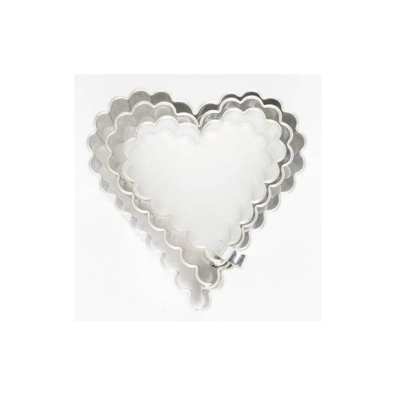 Set de 3 núcleos de Cortador de corazones corrugados