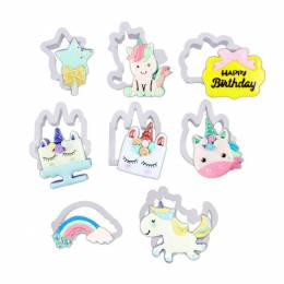 Assortiments de 8 cutters Licorne
