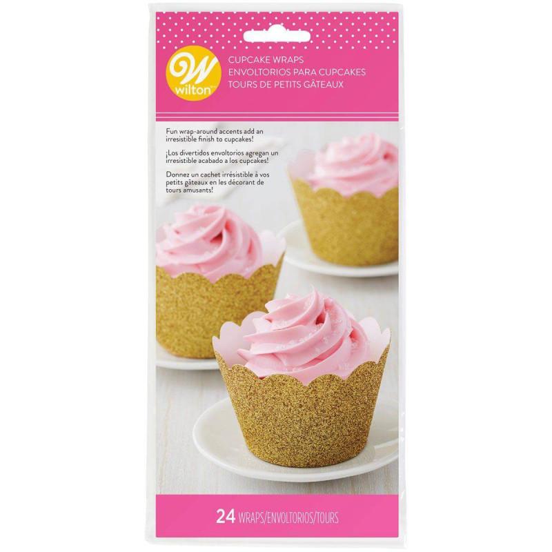 24 contours à cupcakes OR pailleté