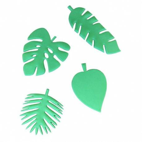 Set of 4 cutters Tropical Sheets FMM