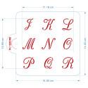 Set de 3 Pochoirs Alphabets Chancelière