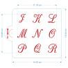 Set de 3 Pochoirs Lettres Chancelière