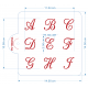 Set de 3 Stencil Alfabetos Canciller