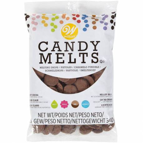 Candy Melts chocolate Cacao Claro Wilton 340G