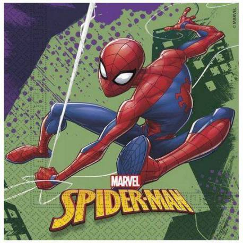 20 Servilletas Spiderman 33 cm